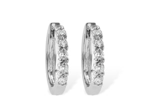 Diamond Hoop Earrings 1/4 Carat