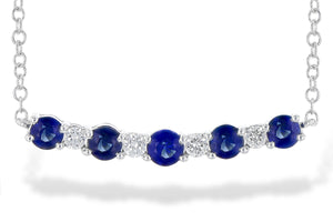 Sapphire and Diamond Bar Necklace