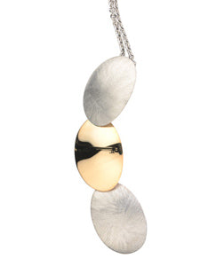 Silver and Yellow Gold Plated Quinn Necklace