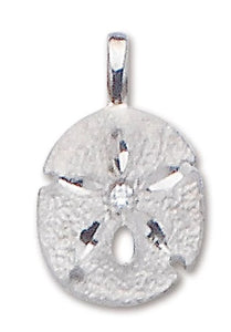 Sand Dollar Pendant CZ with Chain