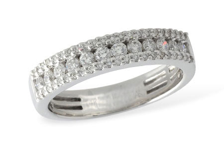 Three Row Diamond Band