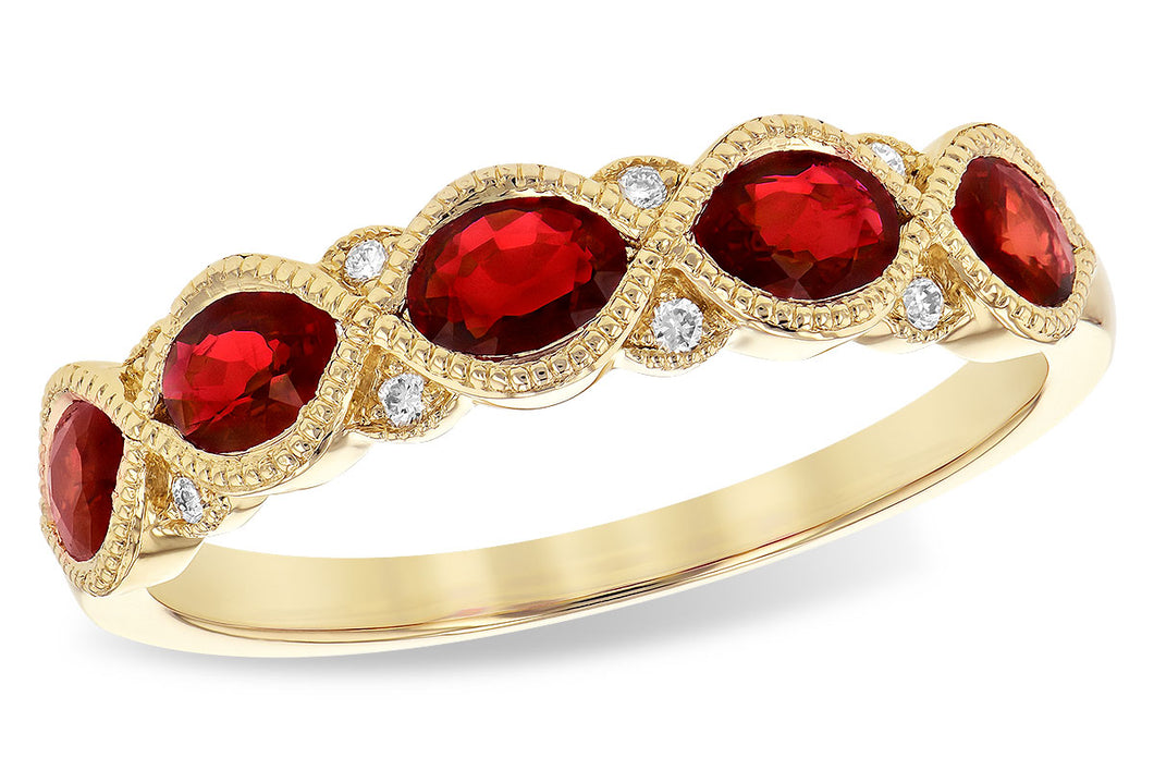 Twist Ruby and Diamond Band