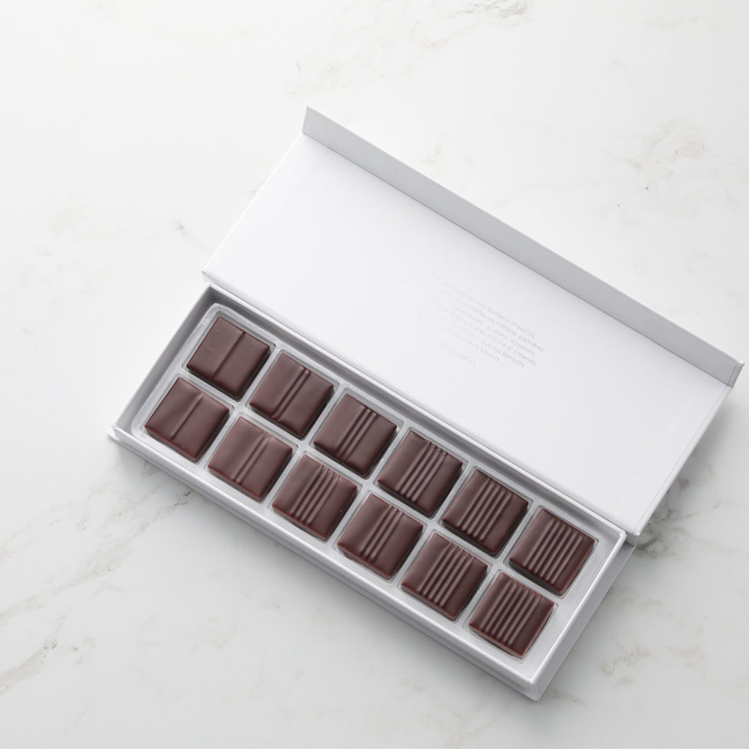 Coffret pralinés croustillants 12 chocolats