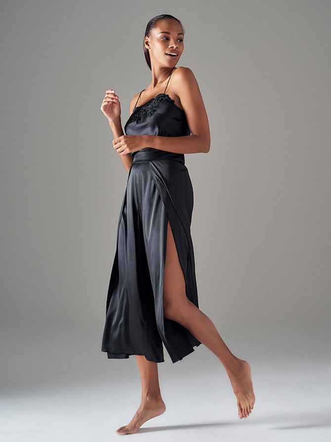 Covent Garden | Luxury, Designer Black Silk Nightwear
