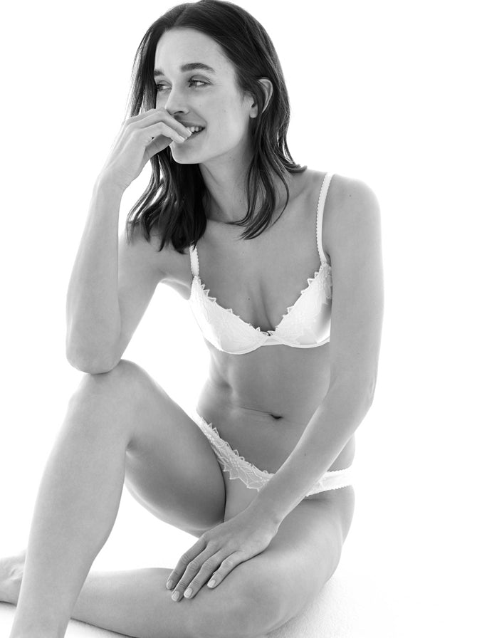 Colville | Luxury White Floral Lace Lingerie Set | Myla
