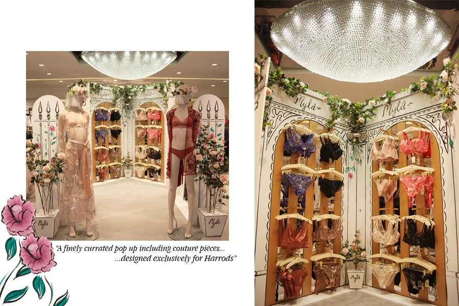 Harrods Pop Up | Lingerie de luxe | Myla