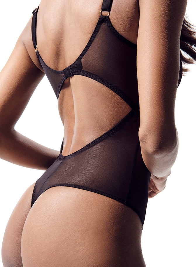 Luxe zwarte pure mesh lingerie set | Piccadilly | Myla