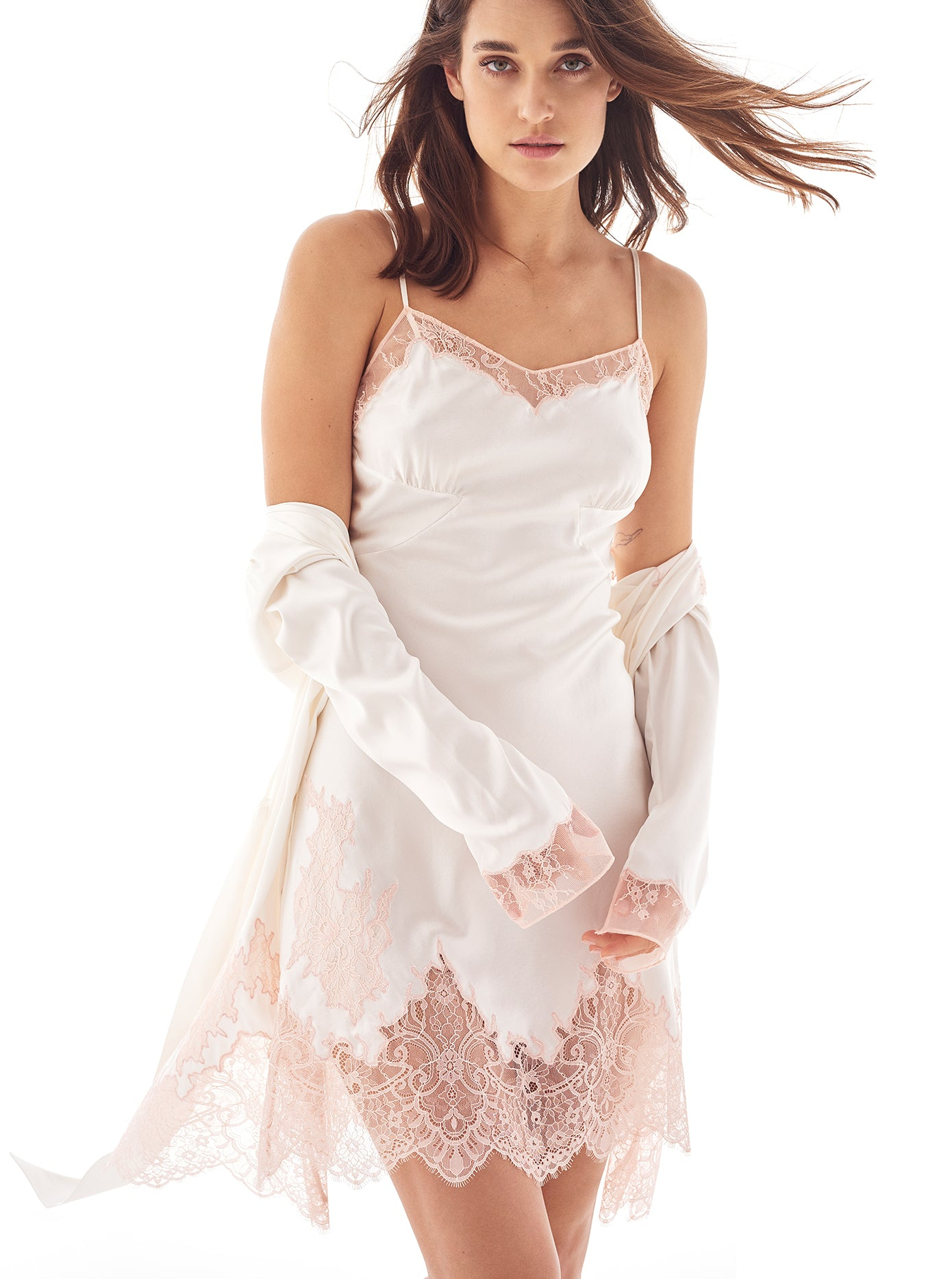 Alma Square | Luxury White Silk Designer Nightwear | Myla