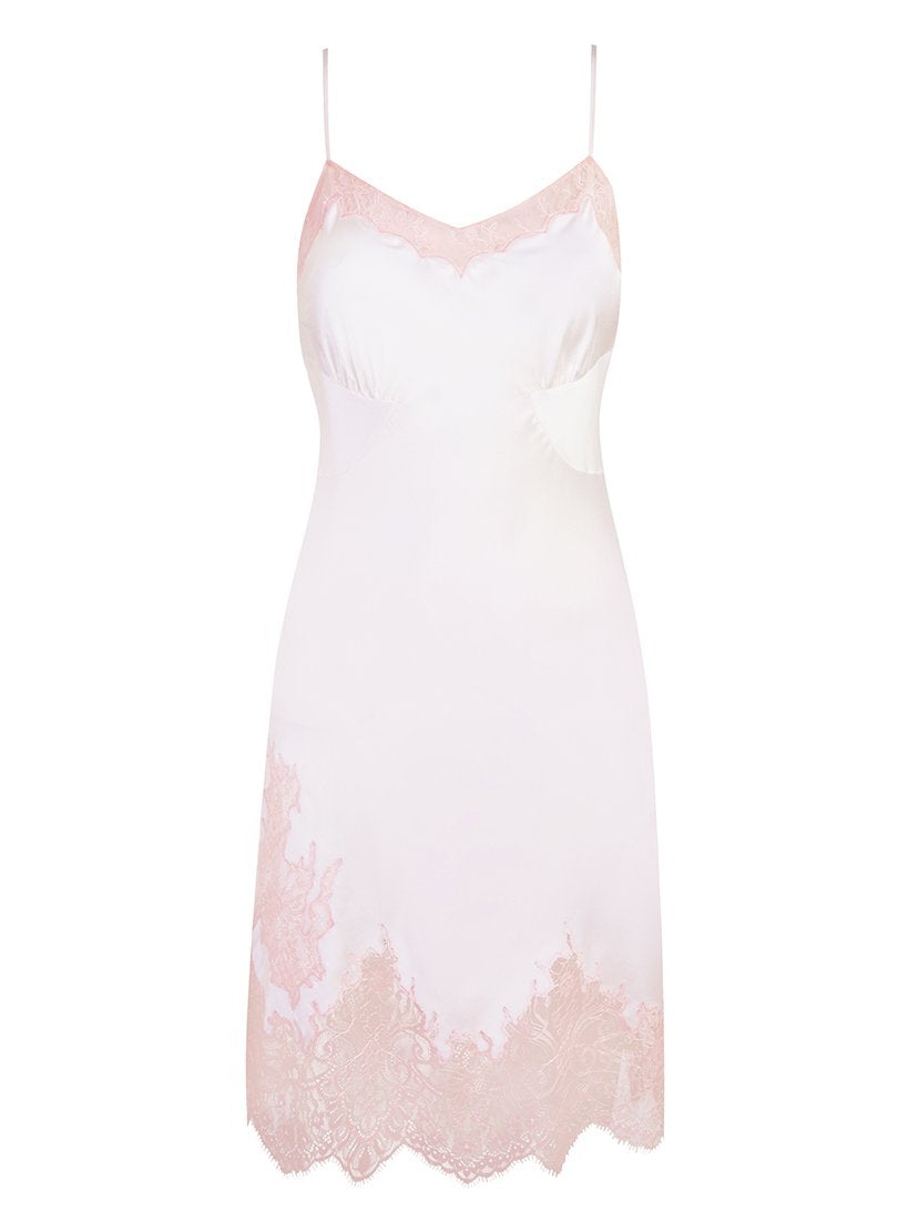 Alma Square Short Slip | Ivory and Pink | Myla | Nightwear