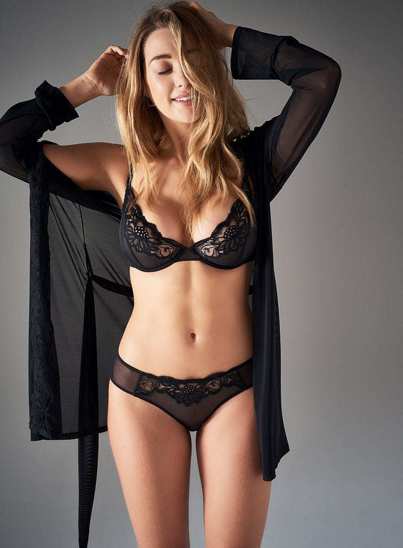 Beaty Street Brief | Black | Myla Lingerie