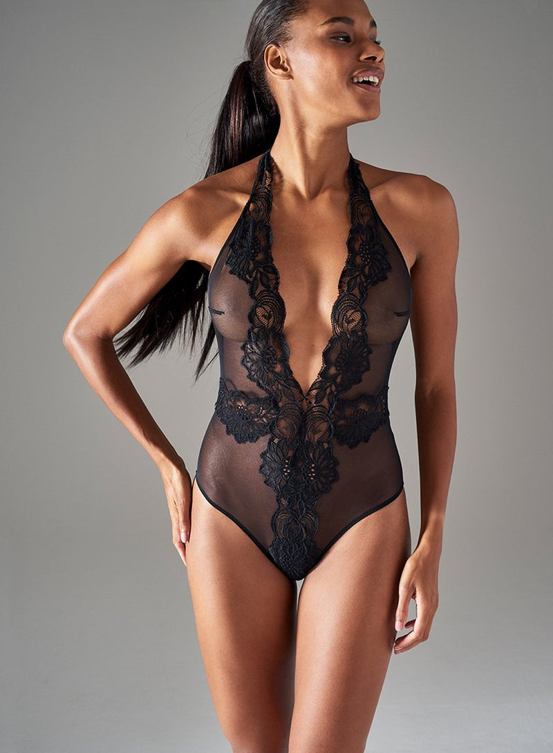 Beaty Street Playsuit | Black | Myla Lingerie