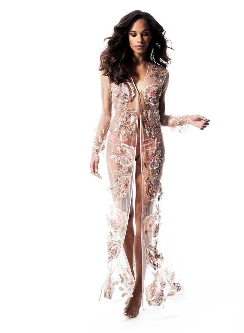 Dukes Avenue Long Gown | Champagne | Myla | Nightwear