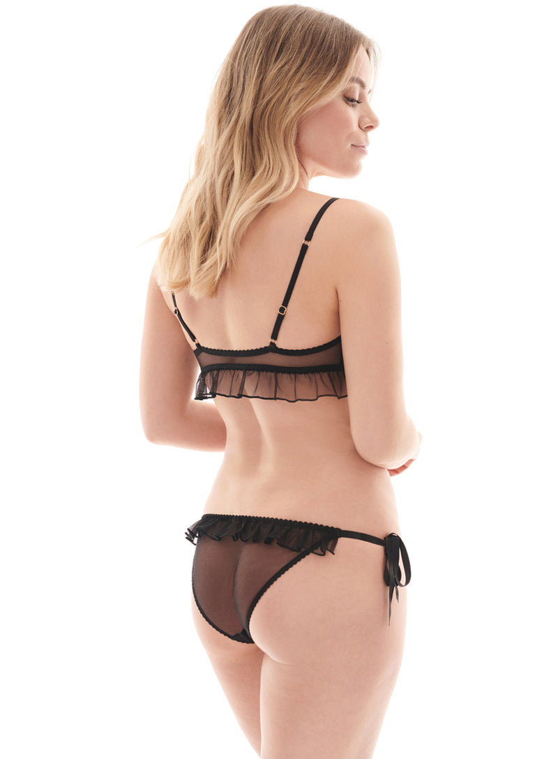 Elm Row Tie Side Brief | Black | Myla Lingerie