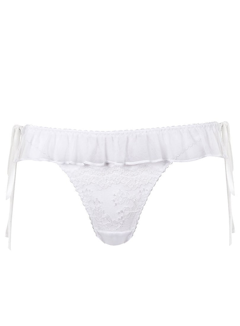 Elm Row Tie Side Brief | White | Myla Lingerie