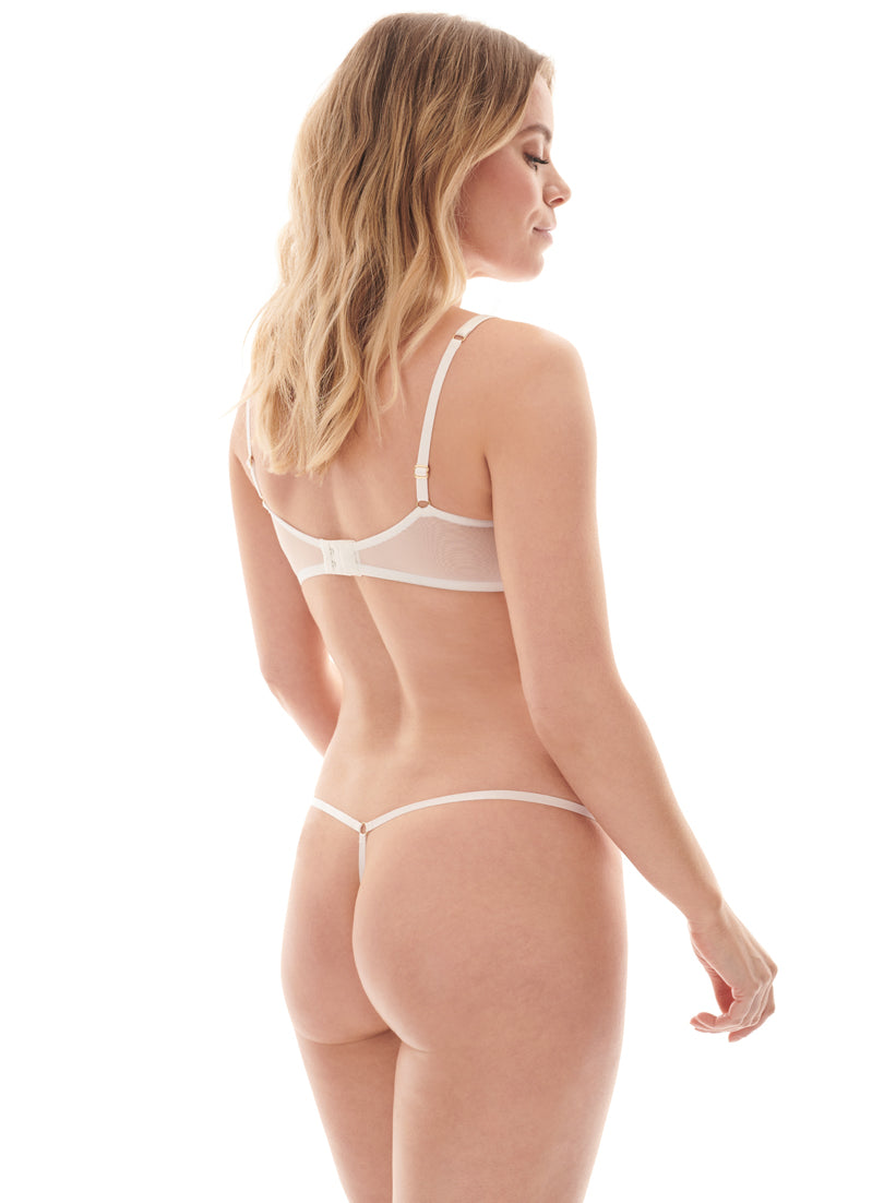 Evelyn Gardens Thong | White | Myla Lingerie