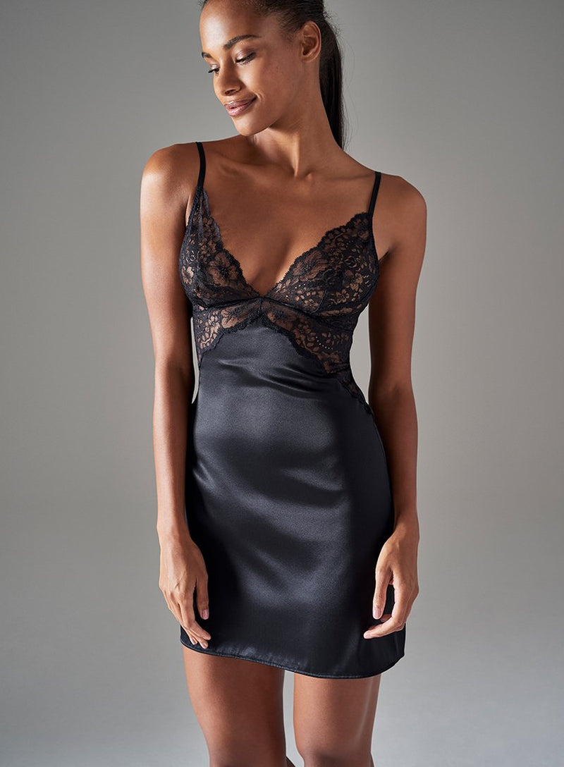 Ladbroke Grove Short Slip | Black | Myla | Nightwear