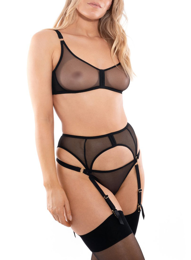 Piccadilly Suspender | Black | Myla Lingerie