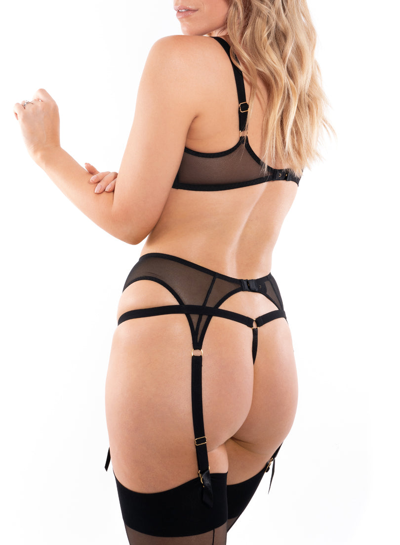 Piccadilly Thong | Sort | Myla Lingerie