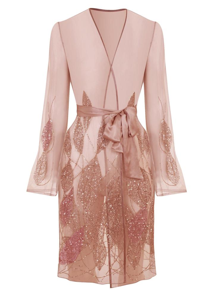 Princes Street Short Gown | Rose | Myla | Nightwear