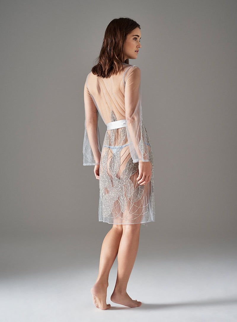 Princes Street Short Gown | Silver | Myla | Nightwear