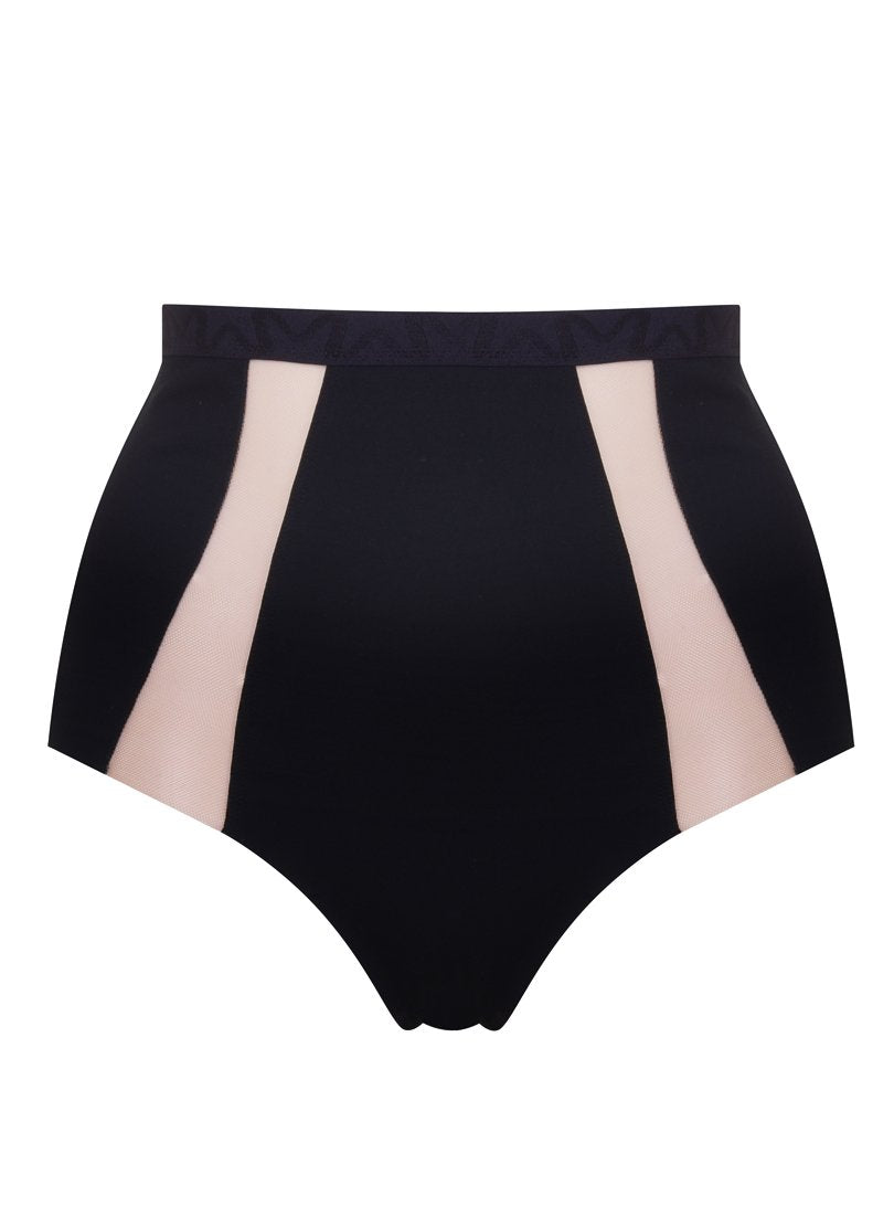 Wells Street High Waisted Brief | Black | Myla Lingerie