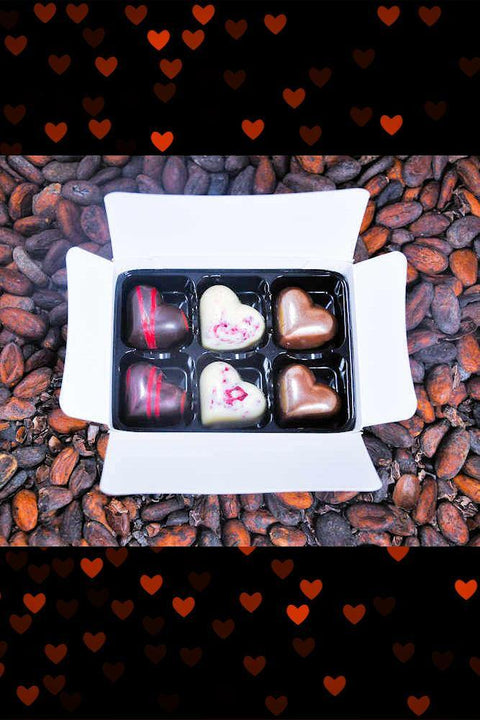 Intimate Box of Six Valentines Day Chocolate Treat