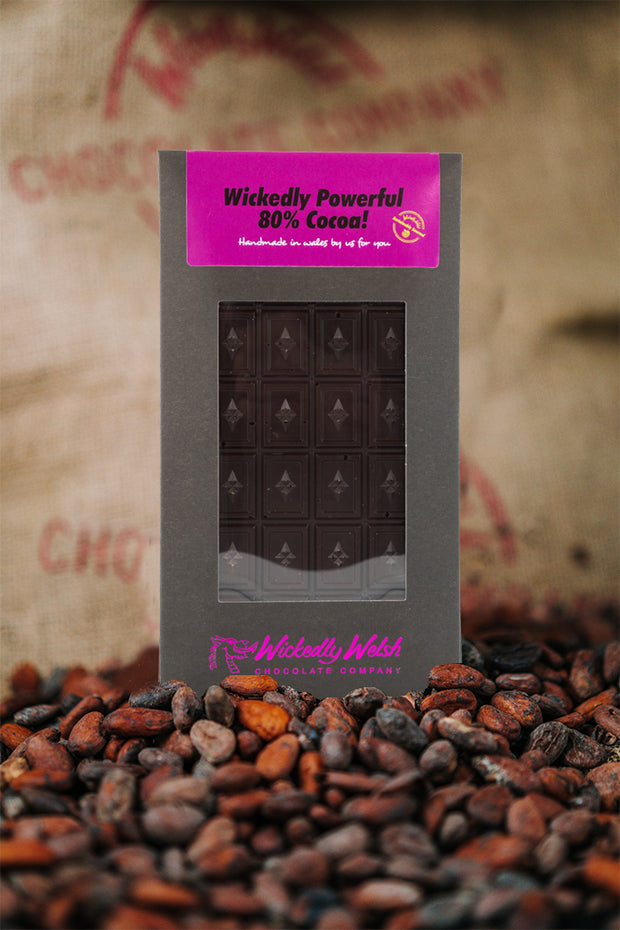 Our darkest yet - Powerful 80% Cocoa Bar