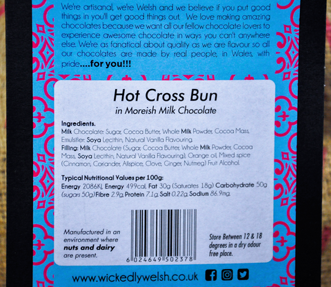 Hot Cross Bun Welsh Milk Chocolate