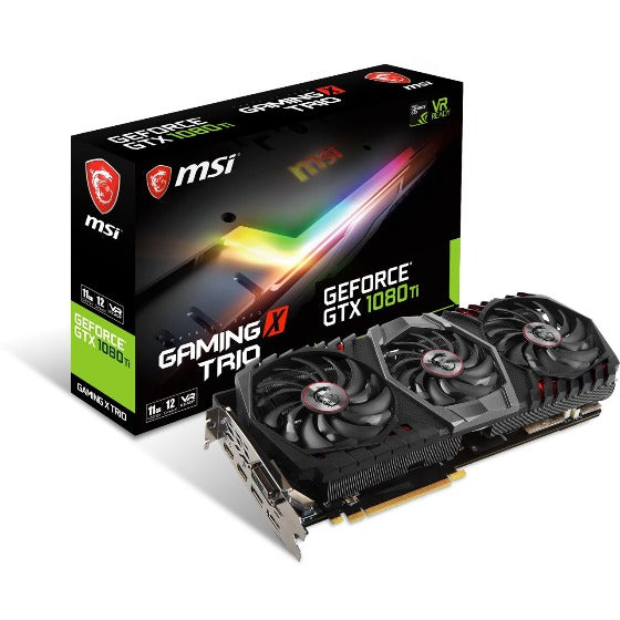 11GB MSI GeForce GTX 1080 Ti GAMING X TRIO Aktiv PCIe 3.0 x16 Retail