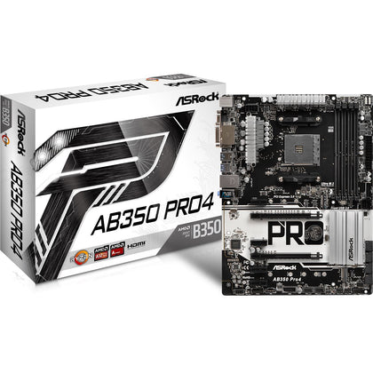 ASRock AB350 Pro4 AMD B350 So.AM4 Dual Channel DDR4 ATX Retail