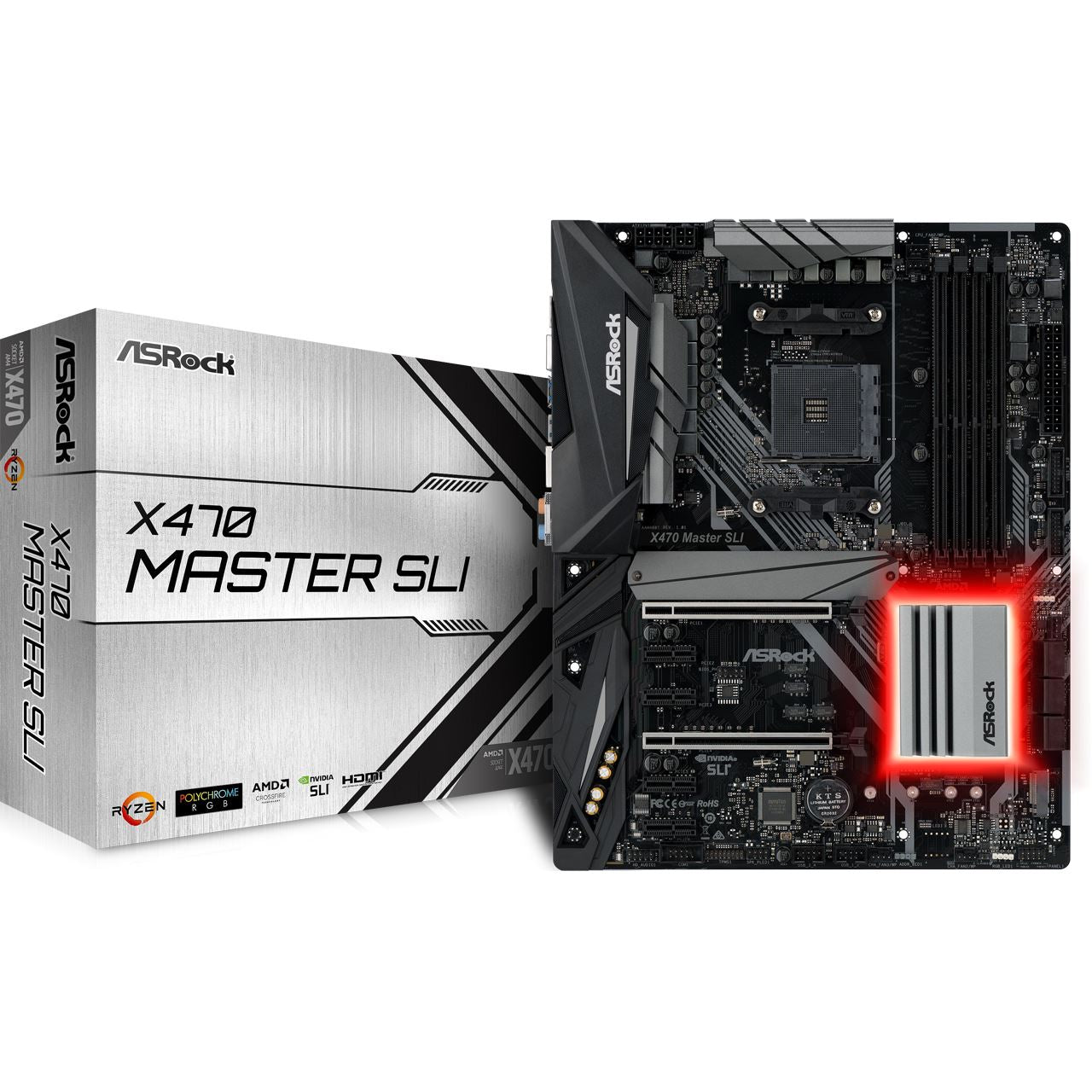ASRock X470 Master SLI AMD X470 So.AM4 Dual Channel DDR4 ATX Retail