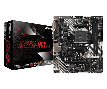 ASRock A320M-HDV AMD A320 So.AM4 Dual Channel DDR4 mATX Retail - digi-cv