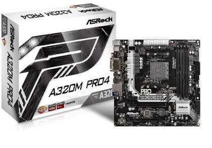 ASRock A320M Pro4 AMD A320 So.AM4 Dual Channel DDR4 mATX Bulk - digi-cv