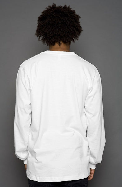 VannDigital Basic Long-Sleeve Tee [White]