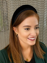 Load image into Gallery viewer, The Elizabeth Black Velvet Padded Headband