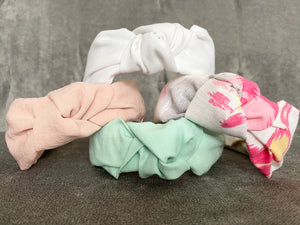 The Kate Pink Linen Knotted Headband