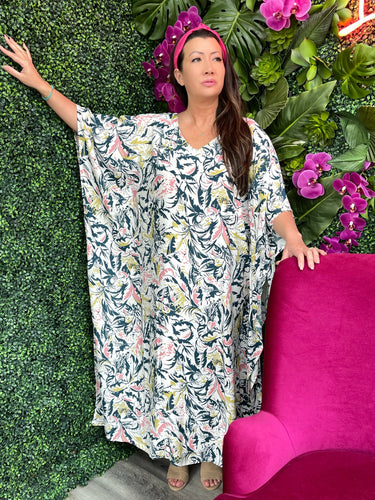 The Gemma Kaftan - Abstract Leaves