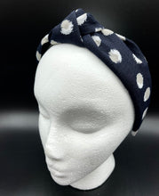 Load image into Gallery viewer, The Kate Linen Dot Knotted Headband