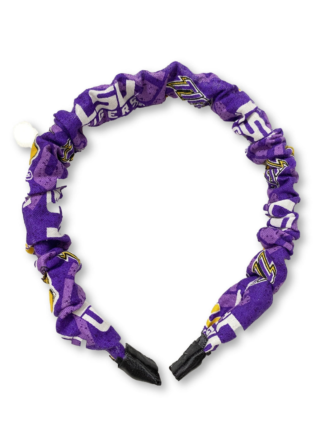 The Valentina Crinkle Headband in LSU