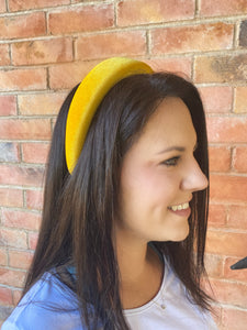 The Elizabeth Lemon Velvet Padded Headband