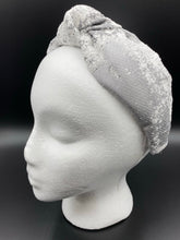 Load image into Gallery viewer, The Kate Silver Print Knotted Headband