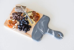Grey, White & Silver Cheeseboard