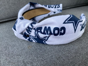 The Kate Dallas Cowboys White Headband