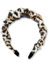 Load image into Gallery viewer, The Valentina Crinkle Headband in Cheetah