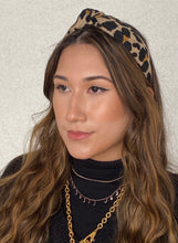 Load image into Gallery viewer, The Kate Leopard Jersey Knotted Headband
