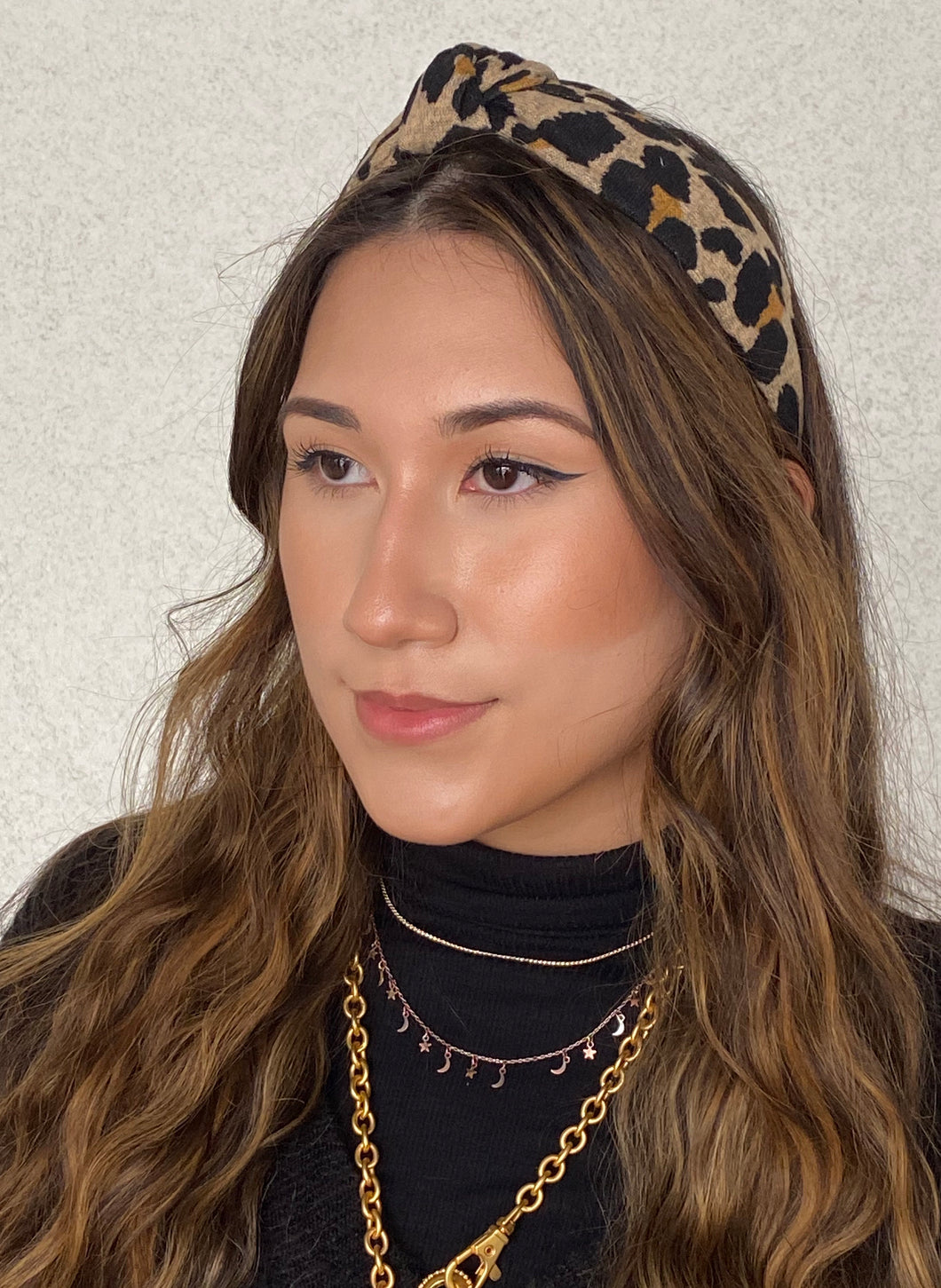 The Kate Leopard Jersey Knotted Headband