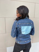 Load image into Gallery viewer, Dust Bag Patch Denim Jacket