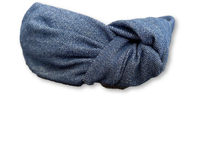 The Kate Denim Knotted Headband