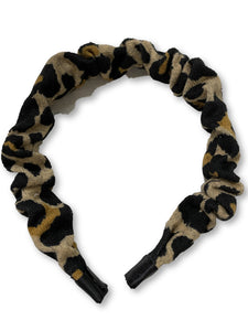 The Valentina Crinkle Headband in Leopard