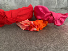 Load image into Gallery viewer, The Kate Red Linen Knotted Headband